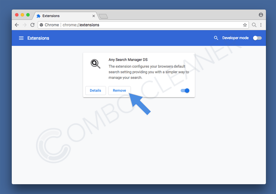 remove rogue extensions from google chrome step 2