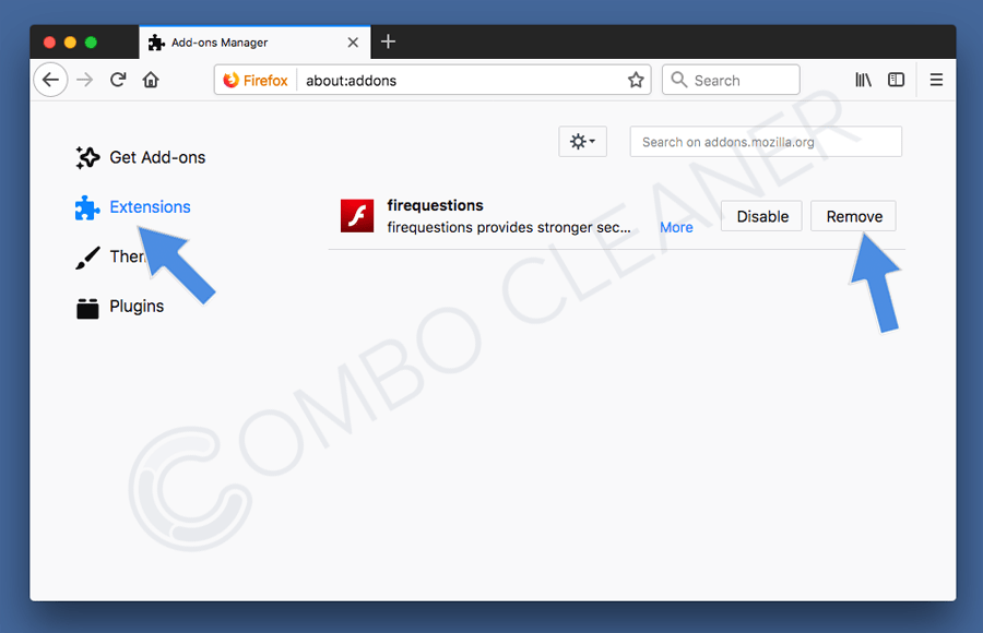 remove rogue add-ons from mozilla firefox step 2